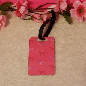 VS PINK Dog ID Luggage Tag Bag Charm